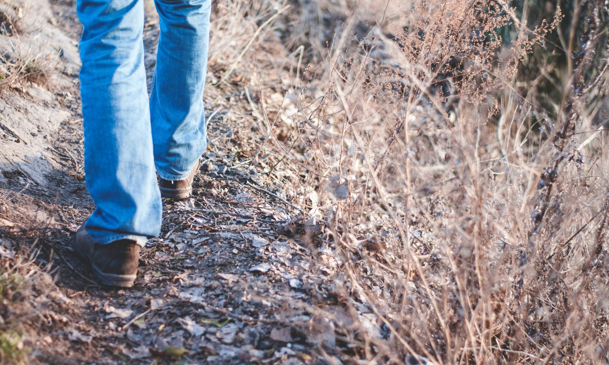 Man walking on trail