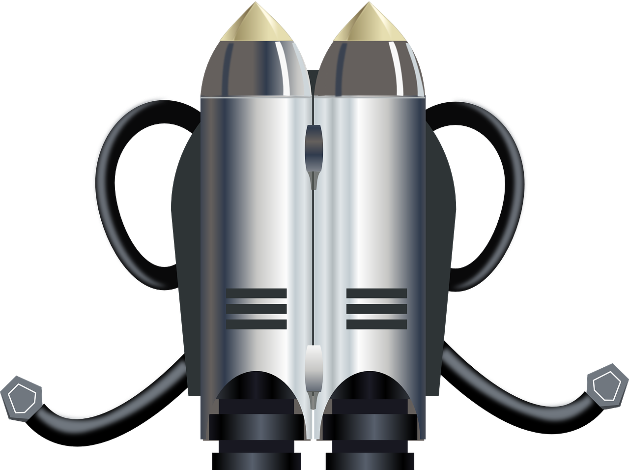Image of jetpack which symbolizes that the salvation of Jesus Christ allows you to fly free. This joy should be transmitted in your life.