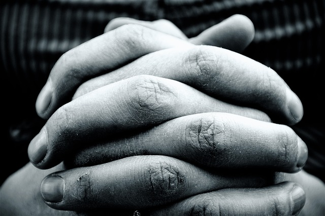 Hands praying image represents that seeking and knowing Jesus is the way to find rest and peace for your soul.