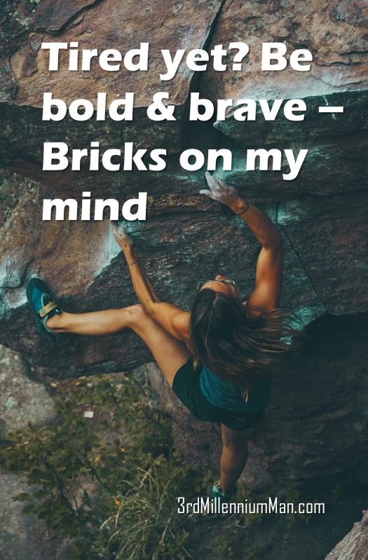 woman mountain climbing with title text