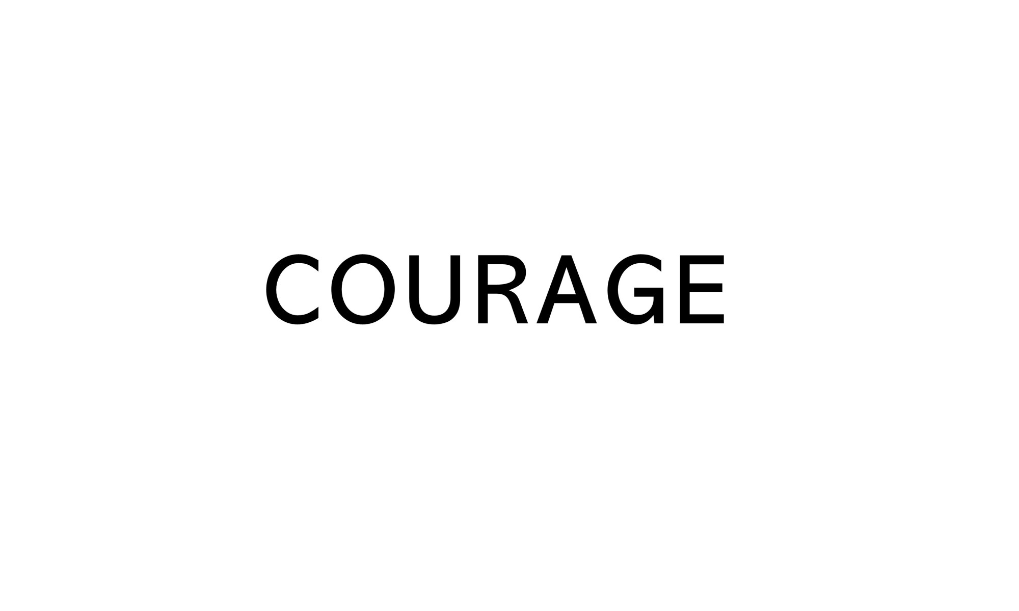 title text saying COURAGE