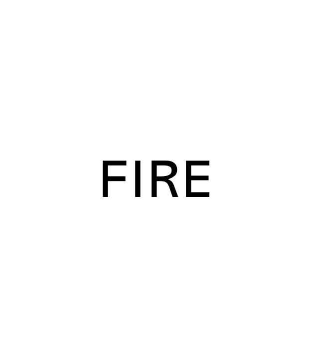 image of title text saying fire