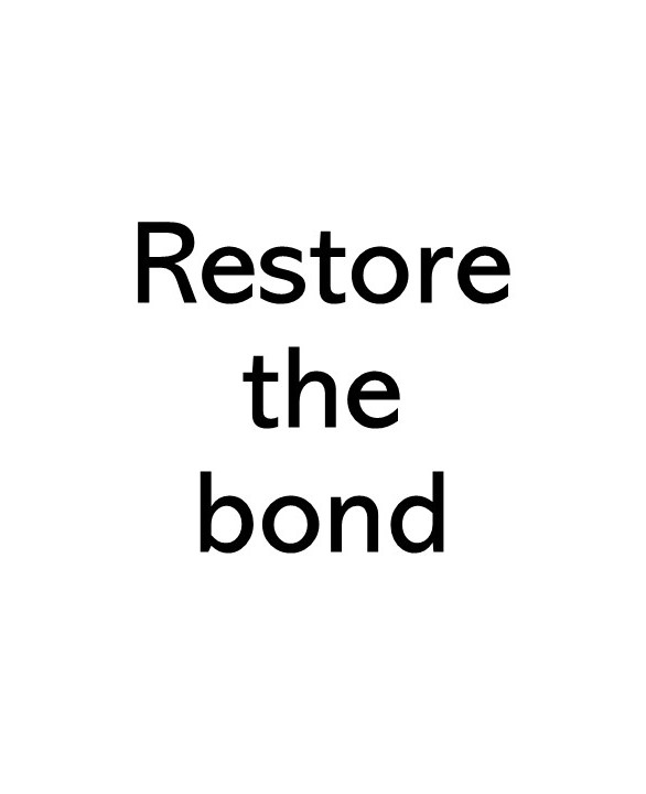title text image that says Restore the bond
