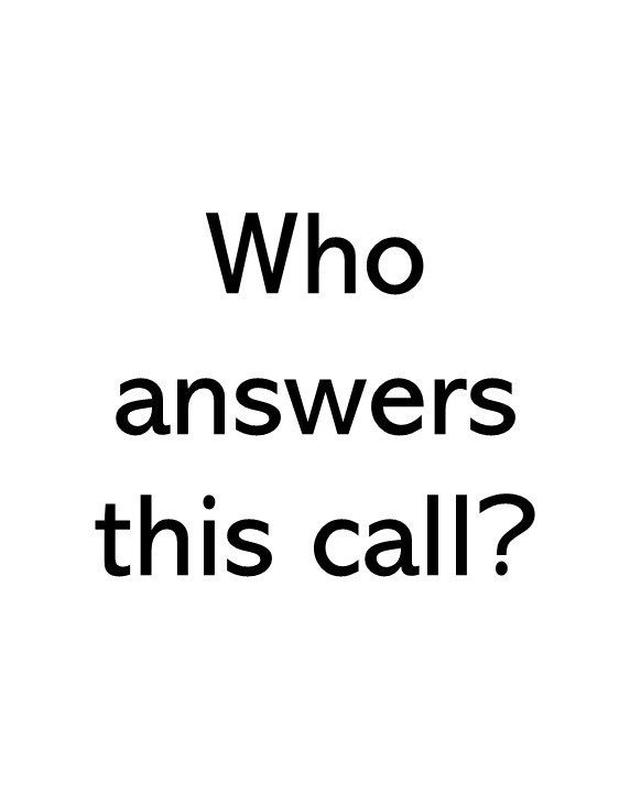 title text saying who answers this call